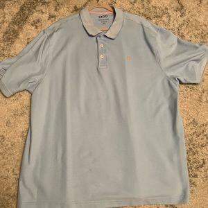 Izod Blue Short Sleeve Polo Size 3XLT
